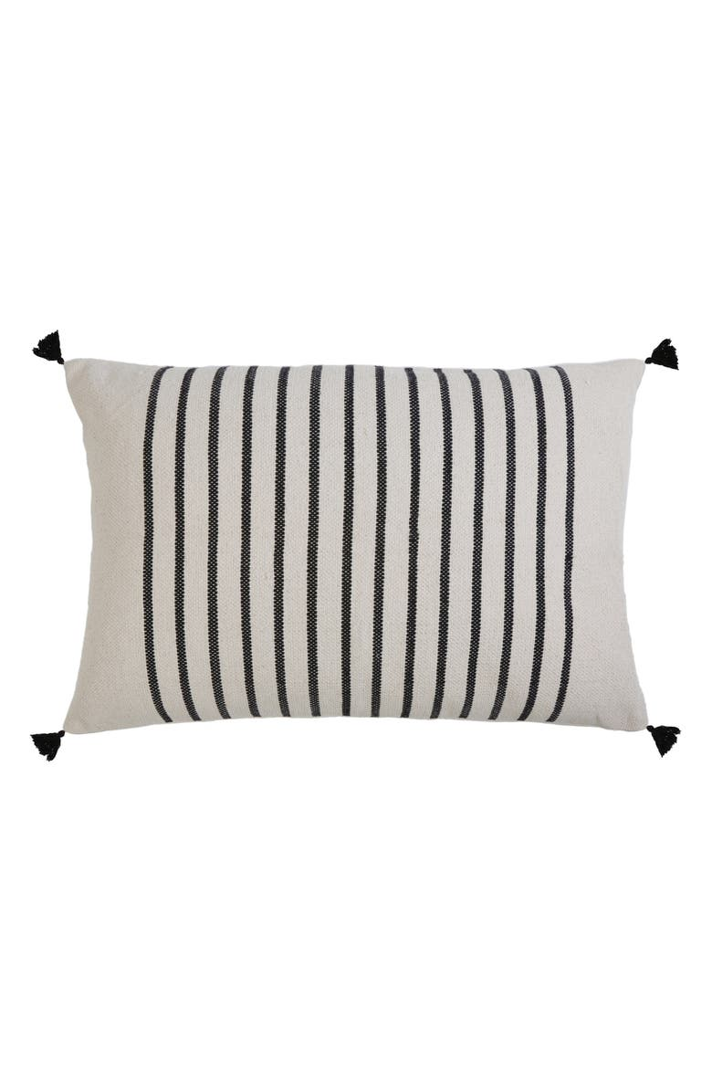 POM POM AT HOME Morrison Large Accent Pillow, Main, color, IVORY/ CHARCOAL
