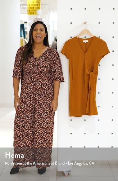 Texture & Thread Short Sleeve Side Tie Wrap Dress, sales video thumbnail