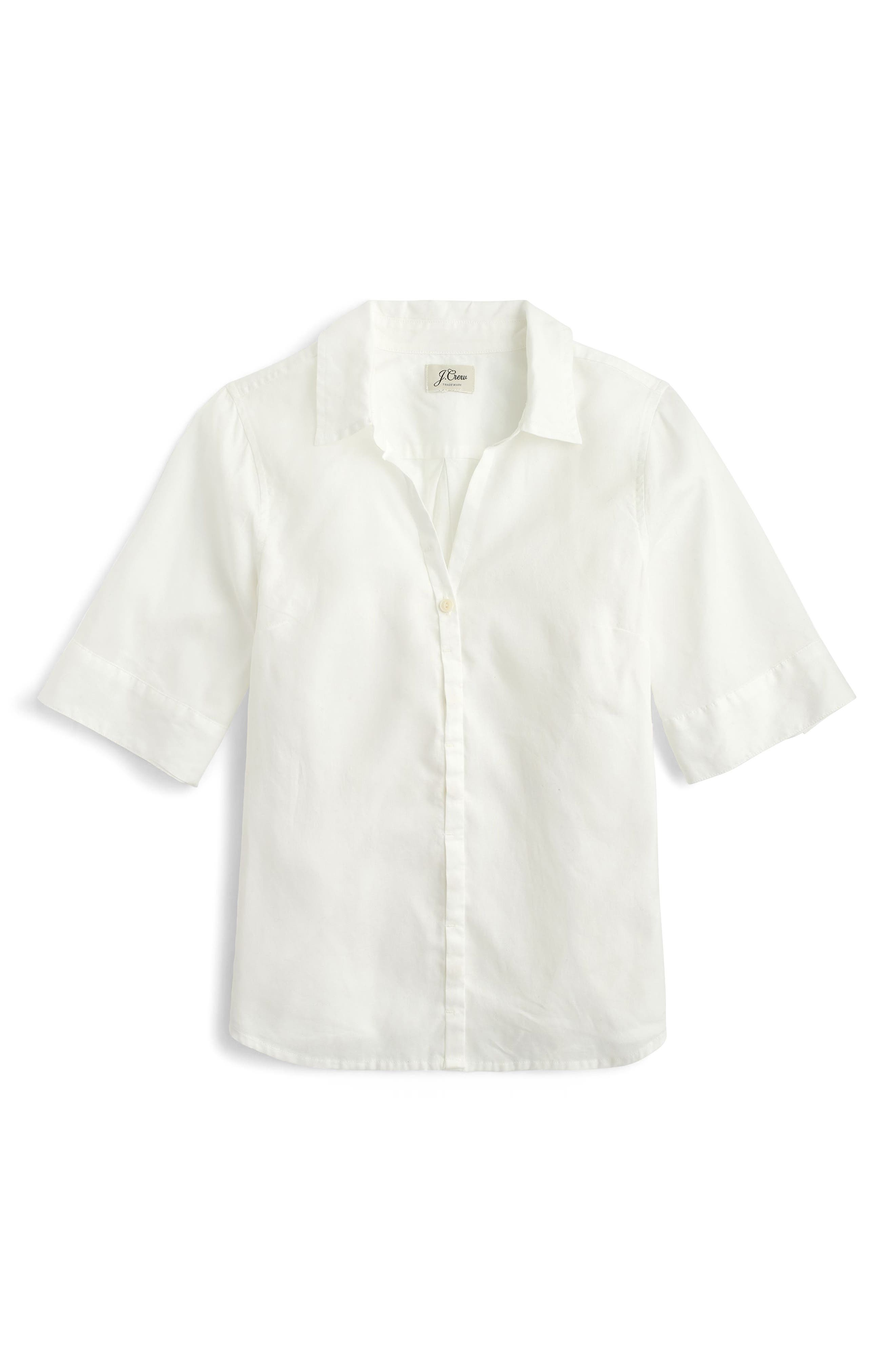 ,                             Short Sleeve Button-Up Shirt,                             Alternate thumbnail 3, color,                             100