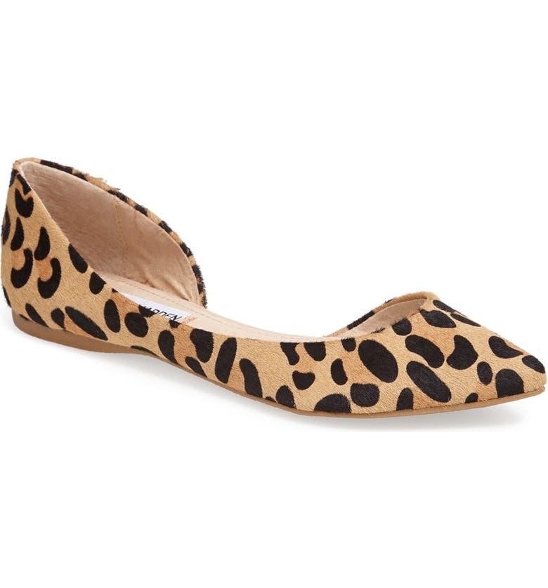 f1d5edab777 'Elusion' Leopard Print Calf Hair Half d'Orsay Flat