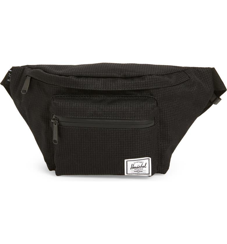HERSCHEL SUPPLY CO. Seventeen Belt Bag, Main, color, DARK GRID/ BLACK