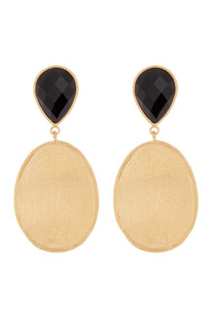 Image of Rivka Friedman 18K Gold Clad Gemstone Drop Earrings