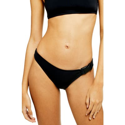 Topshop Neoprene High Leg Bikini Bottoms, US (fits like 2-4) - Black