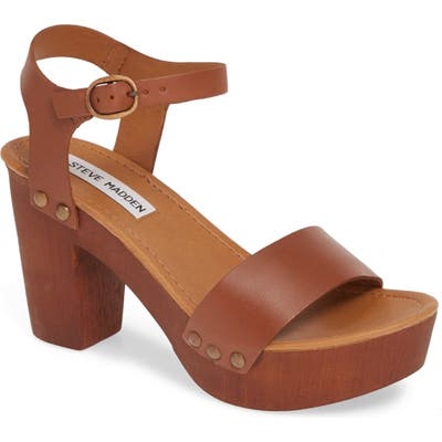 Steve Madden Luna Platform Sandal- Brown