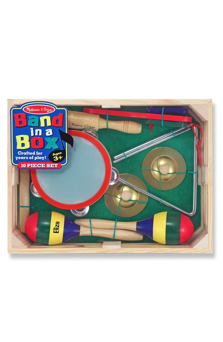 MELISSA & DOUG 'Band in a Box' Personalized Set, Main, color, GREEN