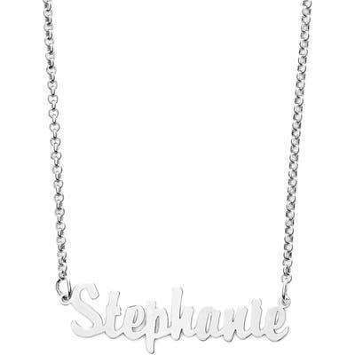 Argento Vivo Personalized Script Name Necklace