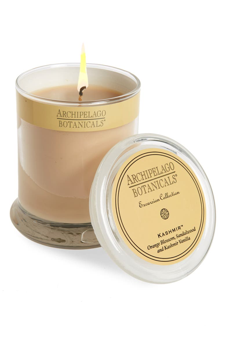 ARCHIPELAGO BOTANICALS 'Excursion' Glass Jar Candle, Main, color, 251