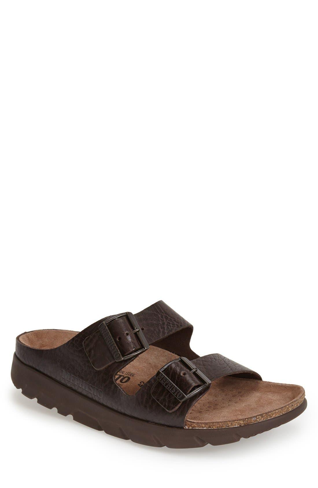 'Zonder 2' Sandal, Main, color, DARK BROWN GRAIN