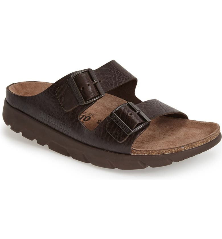 MEPHISTO 'Zonder 2' Sandal, Main, color, DARK BROWN GRAIN