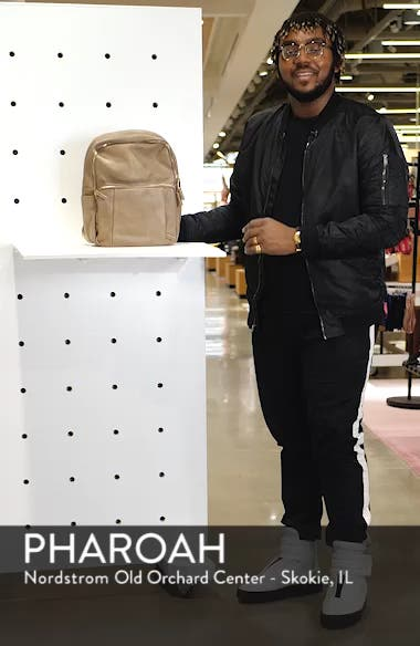 Bold Move Vegan Leather Laptop Backpack, sales video thumbnail