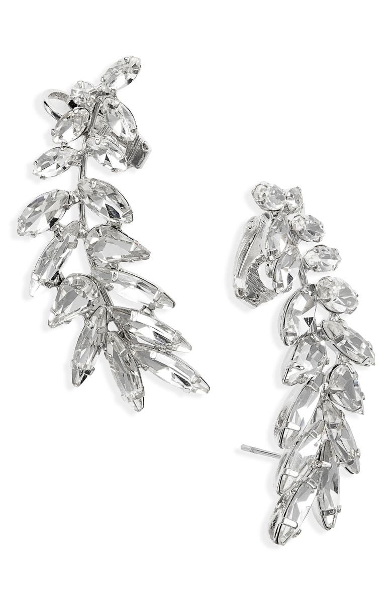 CRISTABELLE Crystal Ear Crawler Earrings, Main, color, 040
