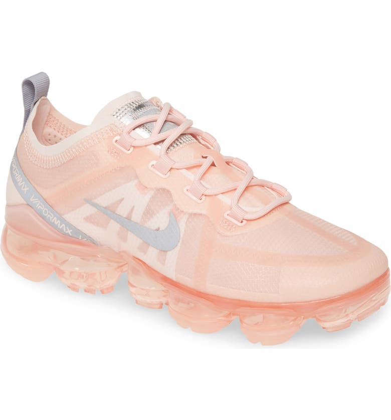 NIKE Air VaporMax 2019 Sneaker, Main, color, ECHO PINK/ SILVER-WHITE-CLEAR