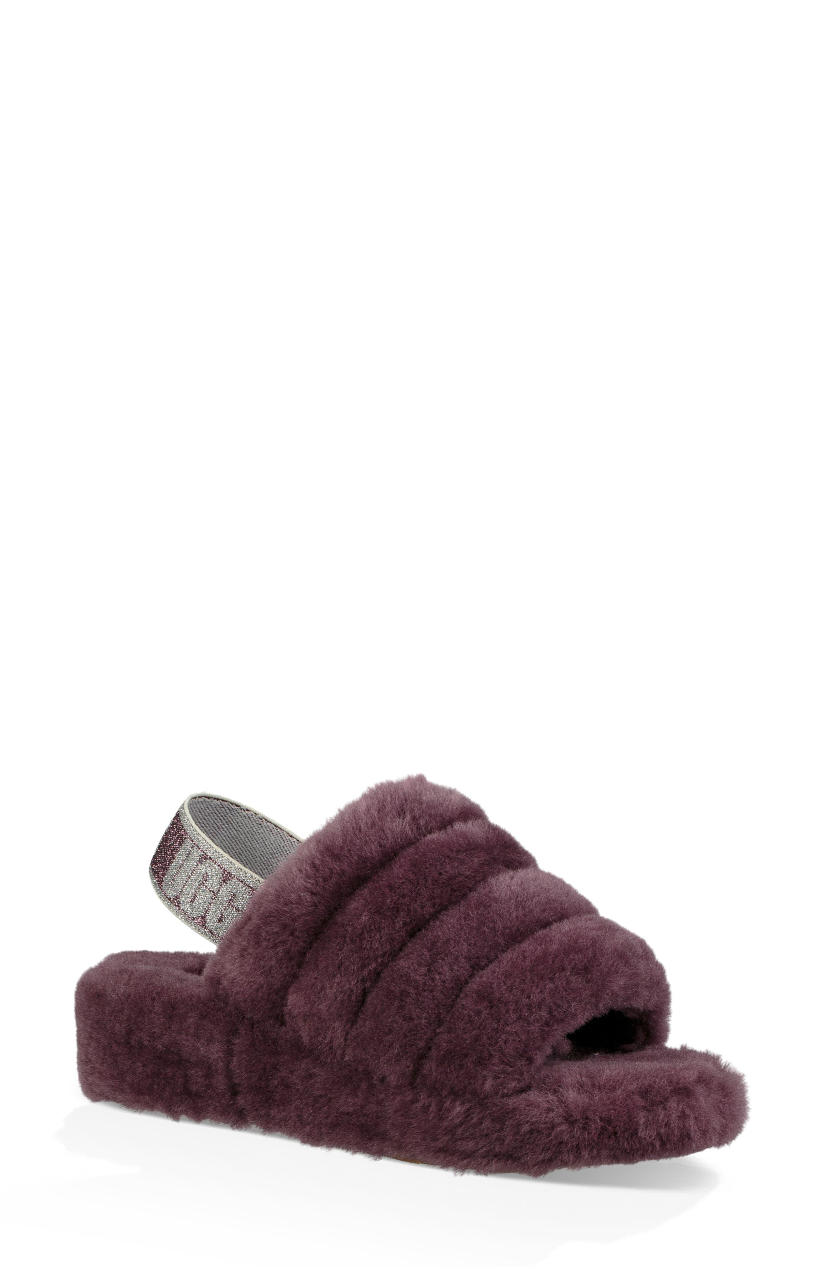 Ugg Fluff Yeah Genuine Shearling Slide Slipper, Purple