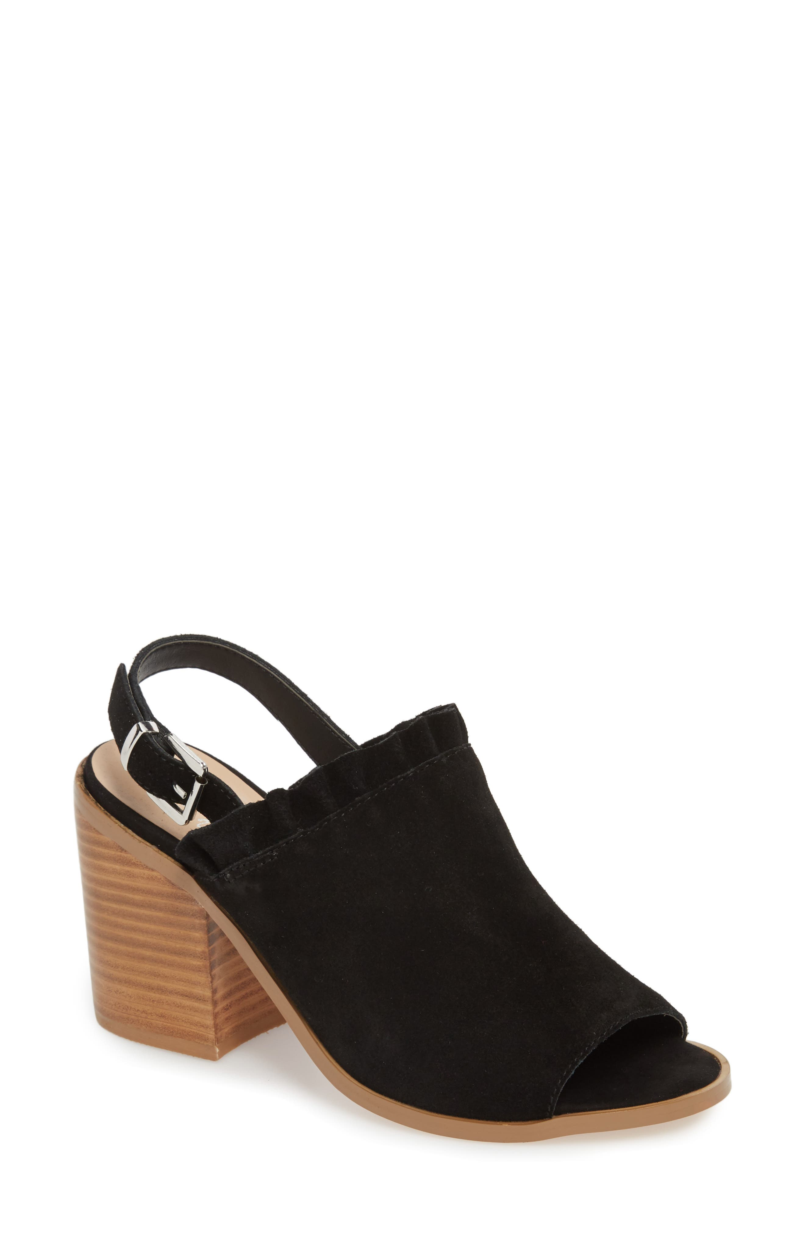 Sbicca Carla Block Heel Sandal, Black