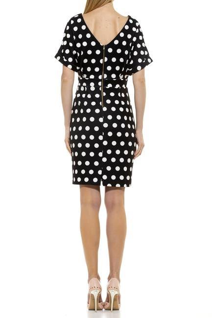 Image of Alexia Admor Polka Dot Dolman Sleeve Dress