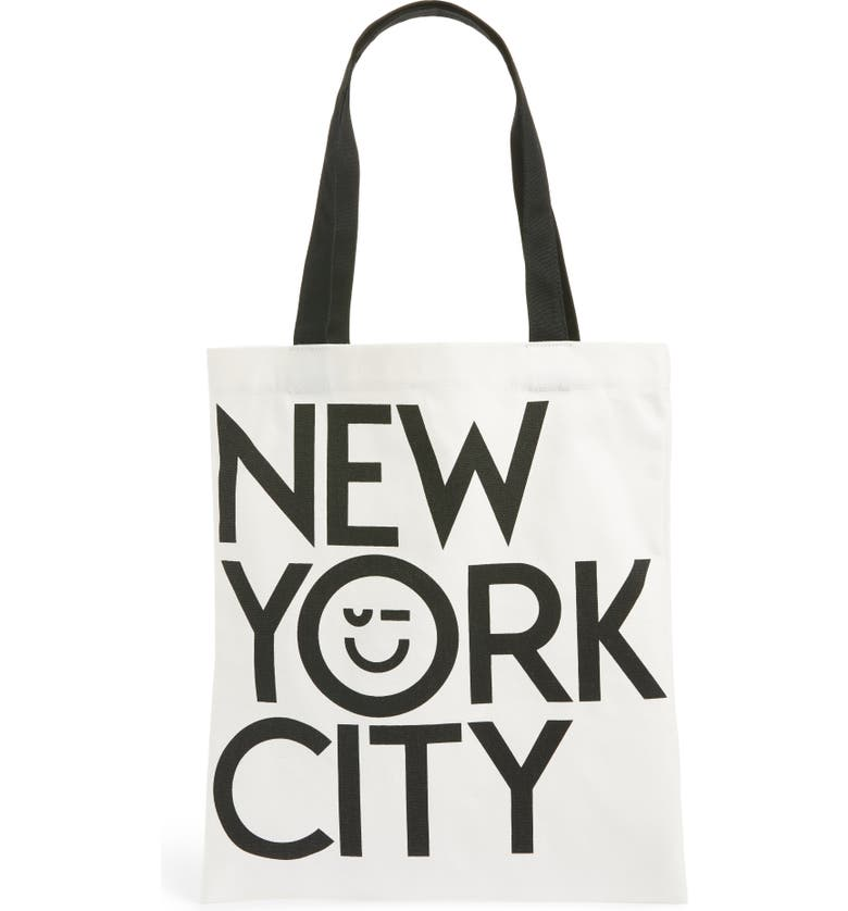 NORDSTROM Canvas Tote, Main, color, WHITE NYC MULTI