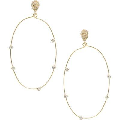 Ettika Oval Wire Drop Earrings