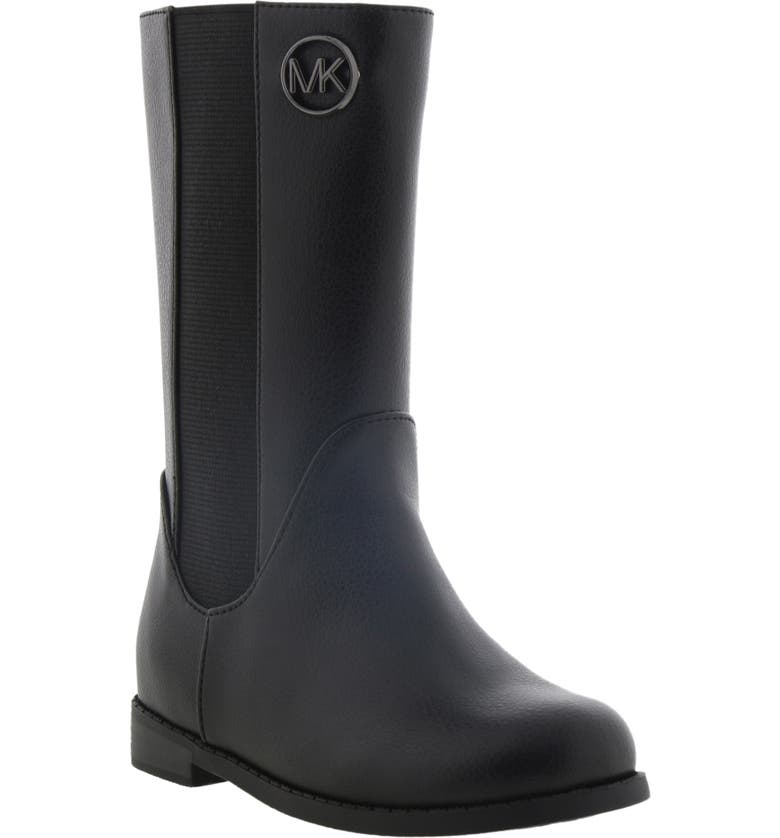 MICHAEL MICHAEL KORS Emma Rubie Faux Leather Riding Boot, Main, color, BLACK