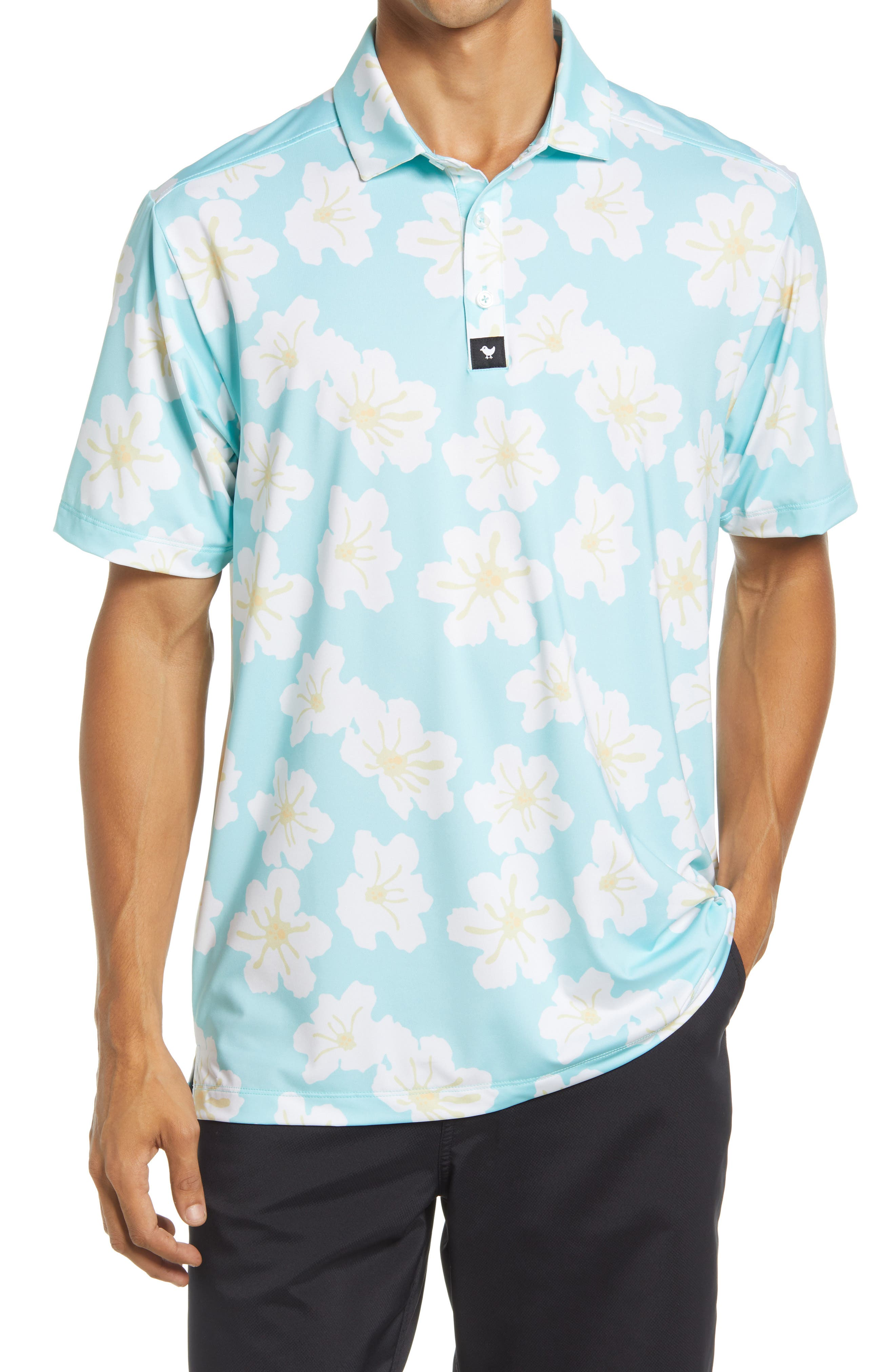 Superbloom Floral Performance Golf Polo
