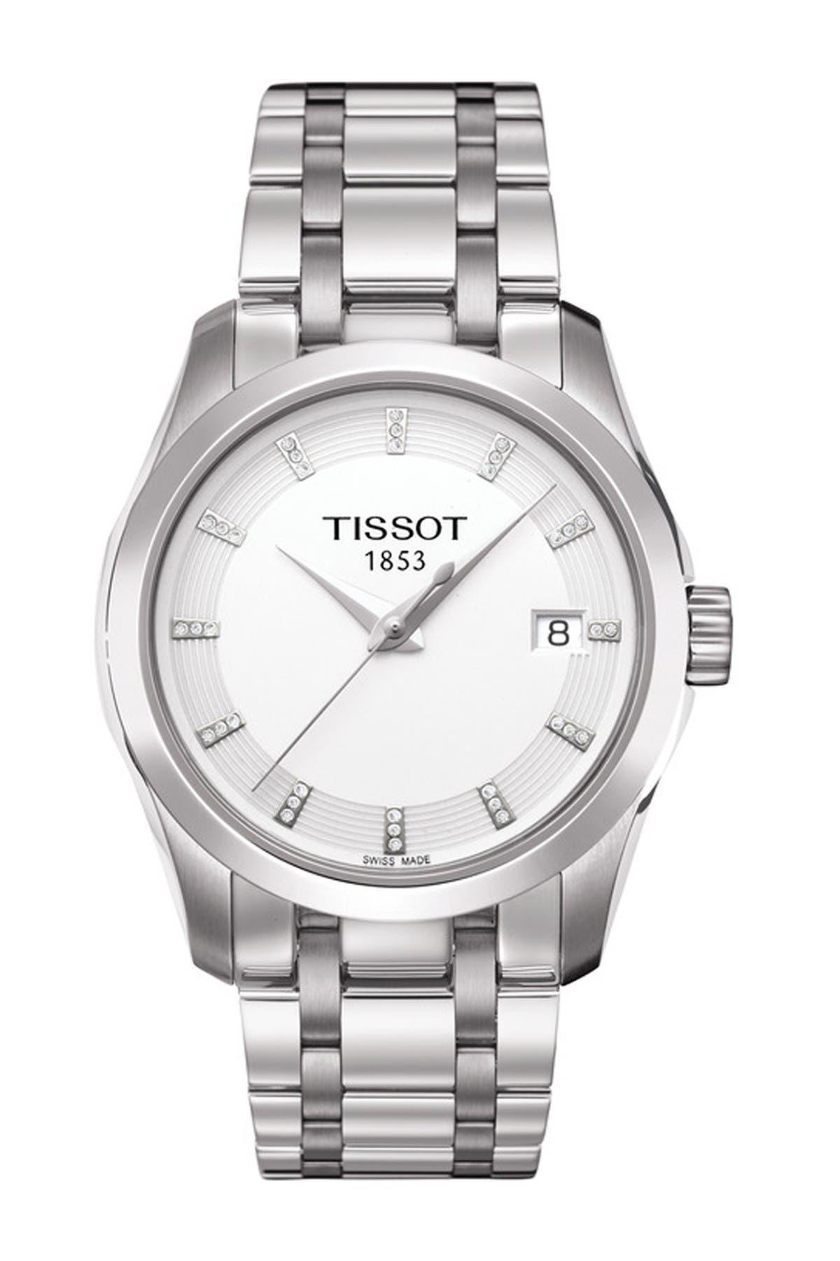 Image of Tissot Women's Couturier Swiss Quartz Watch, 32mm - 0.046 ctw