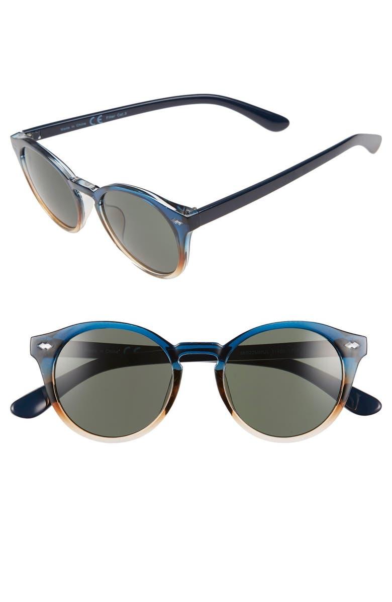 TOPMAN 48mm Round Sunglasses, Main, color, 400