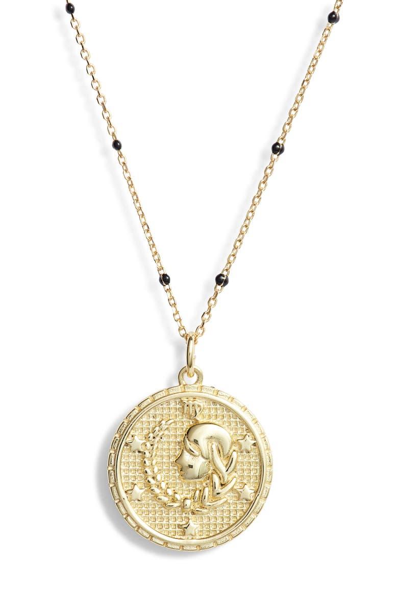 ARGENTO VIVO STERLING SILVER Argento Vivo Zodiac Pendant Necklace, Main, color, VIRGO