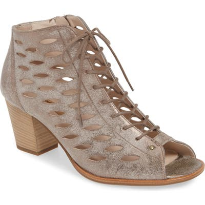 Paul Green Bali Lace-Up Bootie Sandal - Grey