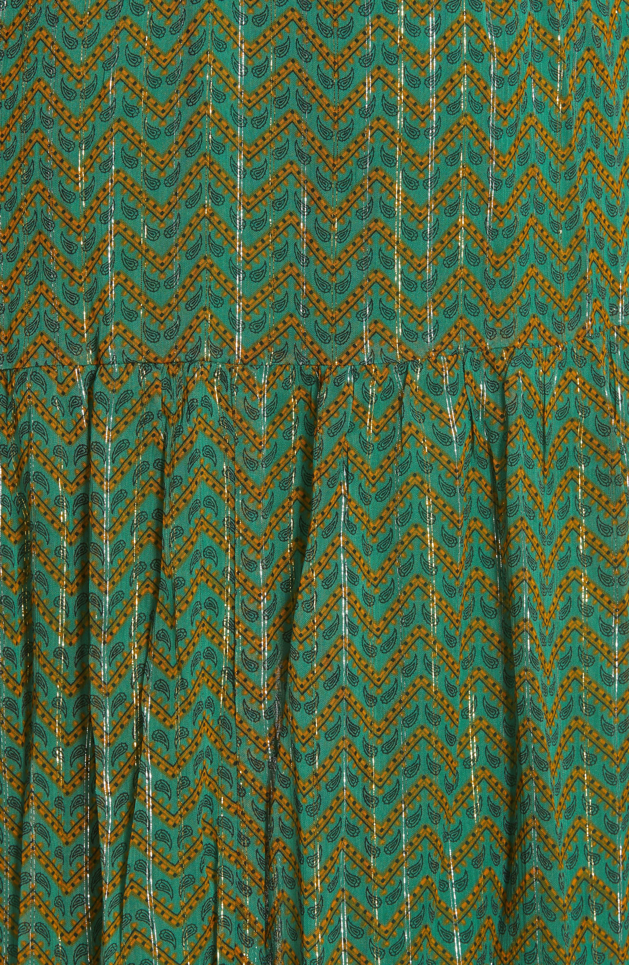 ,                             Wanda Metallic Accent Maxi Dress,                             Alternate thumbnail 6, color,                             VERT