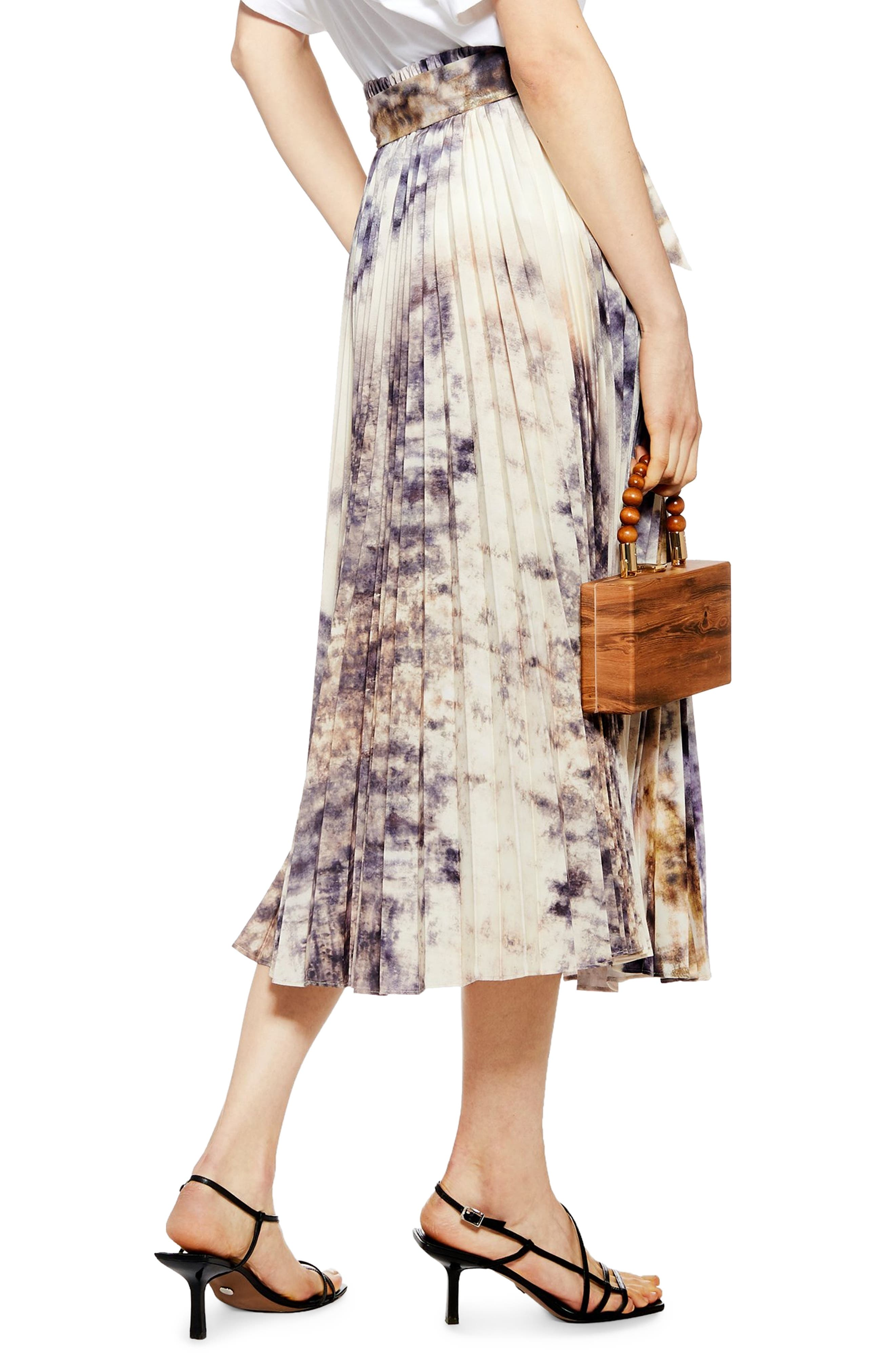 ,                             Tie Dye Midi Skirt,                             Alternate thumbnail 2, color,                             GREY MULTI