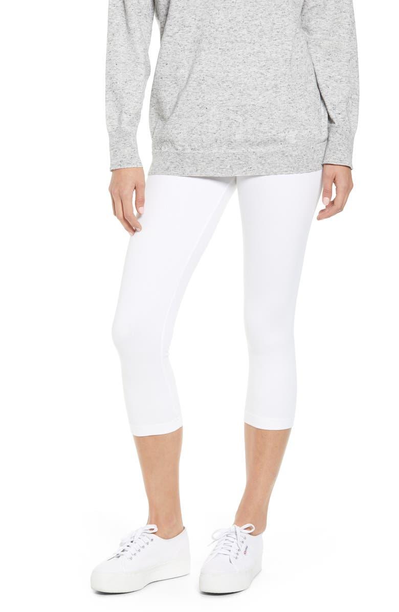 LYSSÉ Denim Capri Leggings, Main, color, WHITE