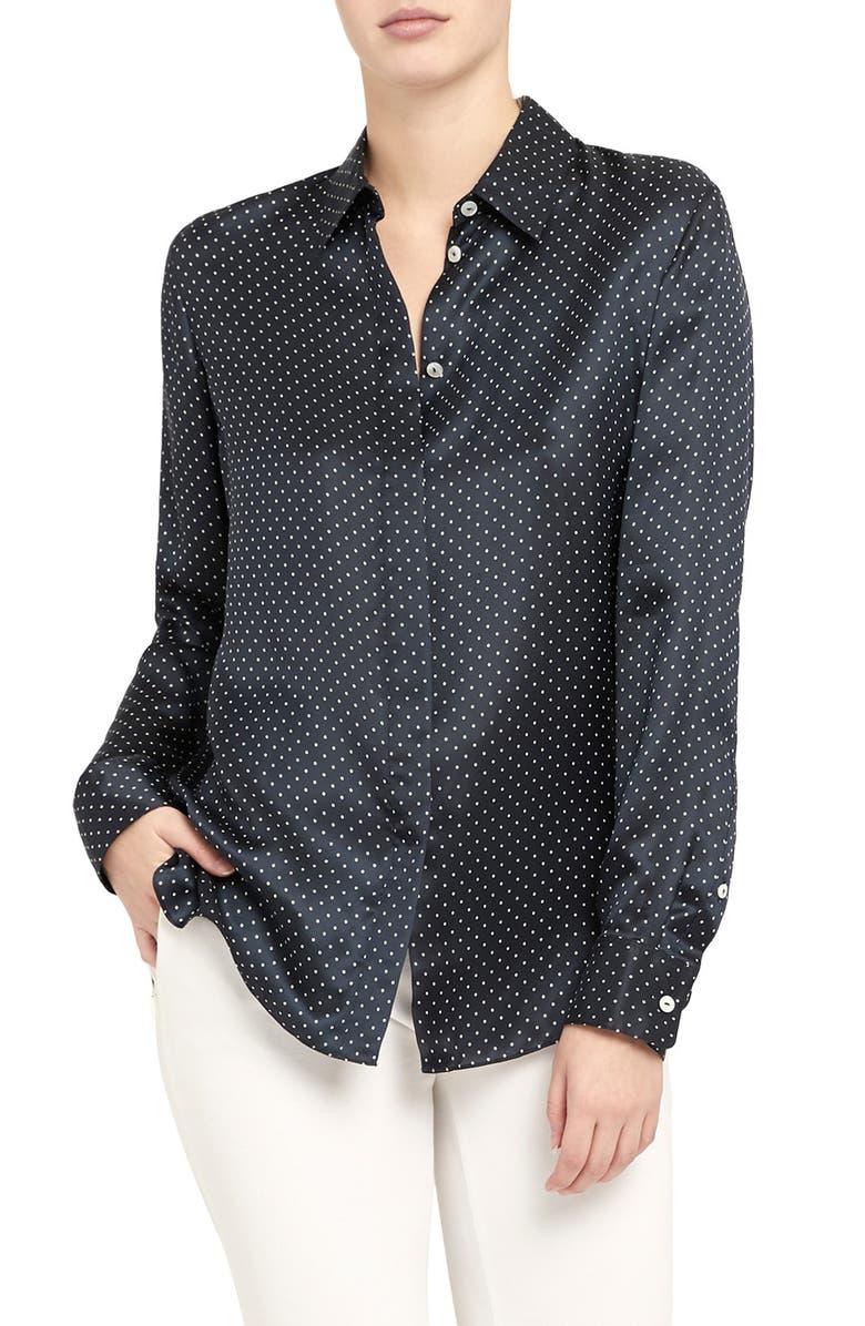 THEORY Dot Button-Up Shirt, Main, color, 473