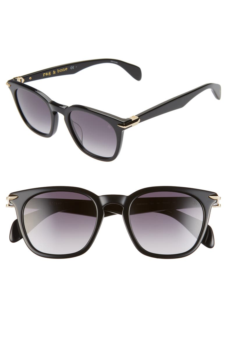 RAG & BONE 50mm Sunglasses, Main, color, BLACK