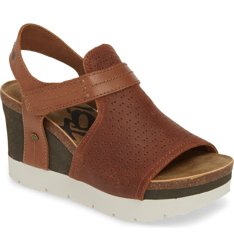 OTBT Waypoint Wedge Sandal, Main, color, NEW TAN LEATHER