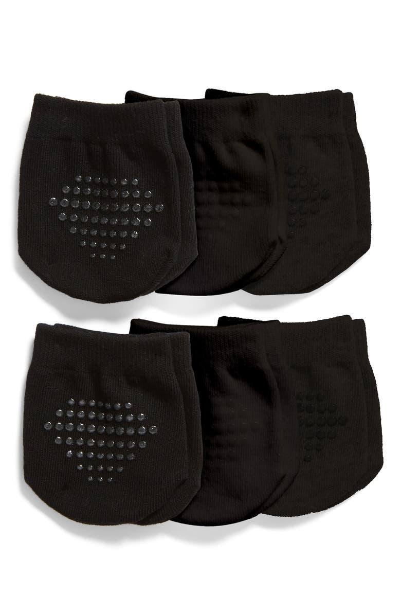 NORDSTROM 6-Pack Mule Socks, Main, color, BLACK