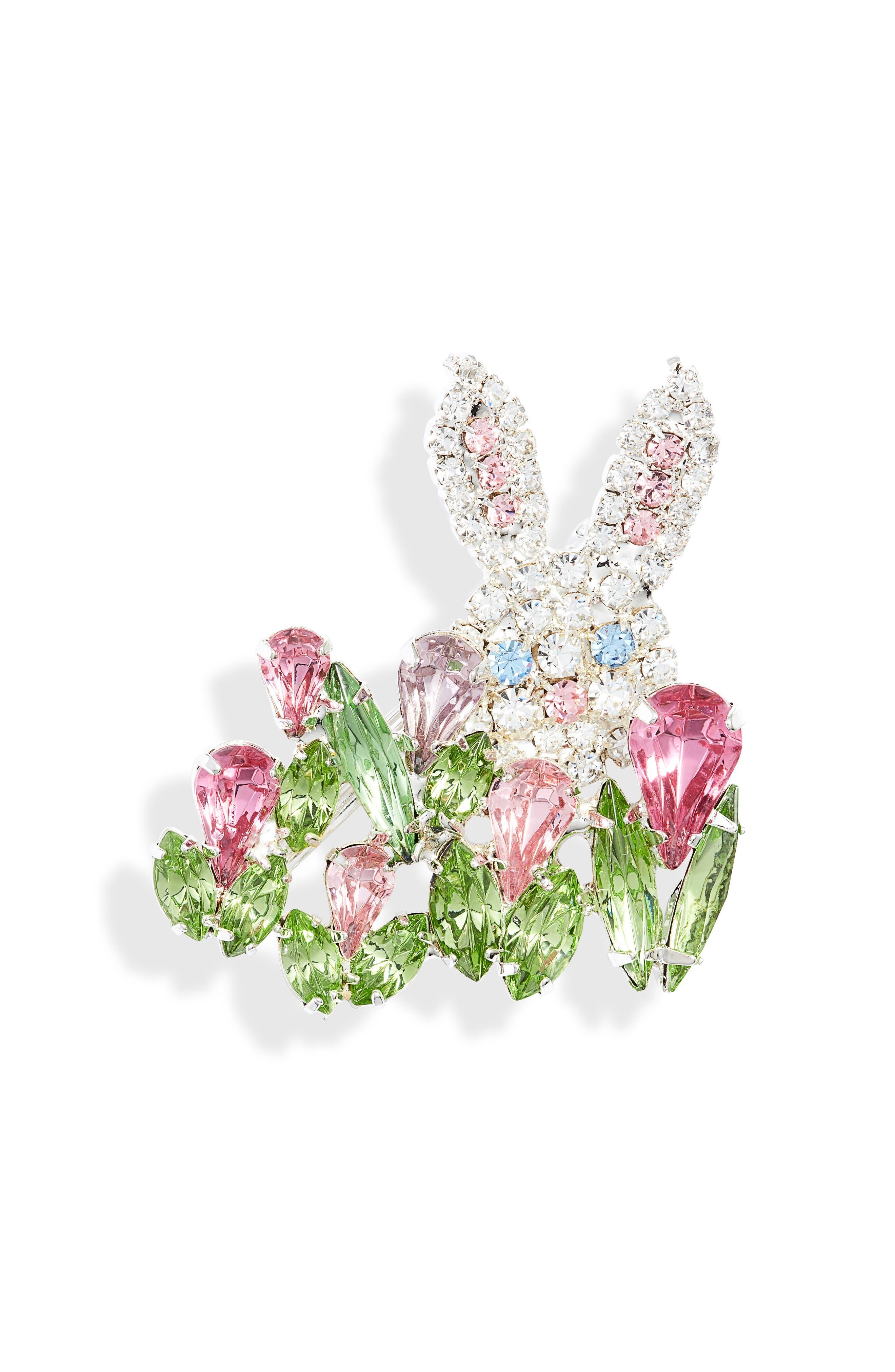 Peek-A-Boo Bunny Pin
