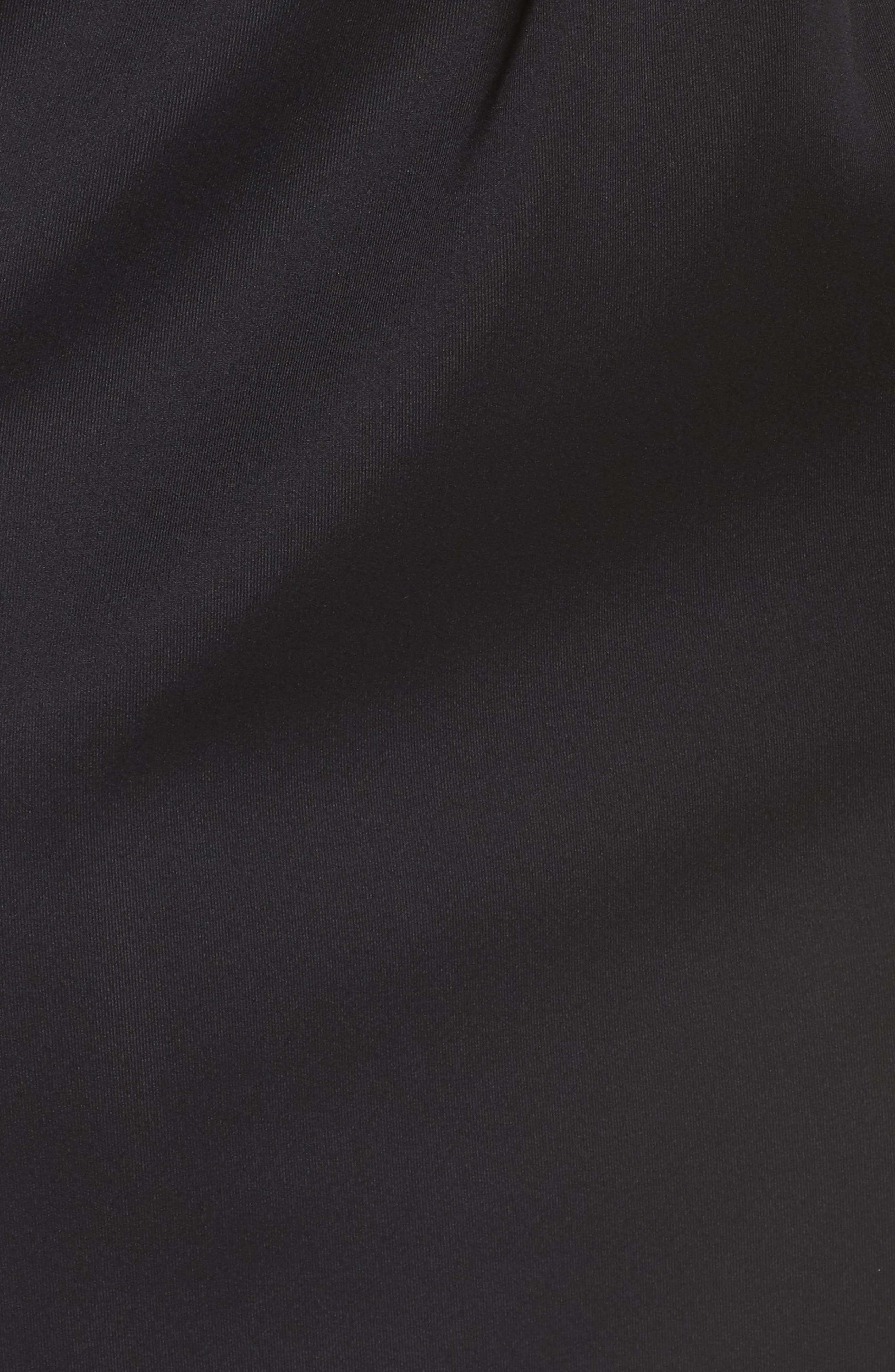 ,                             Long Sleeve Neoprene & Lace Cocktail Dress,                             Alternate thumbnail 6, color,                             001