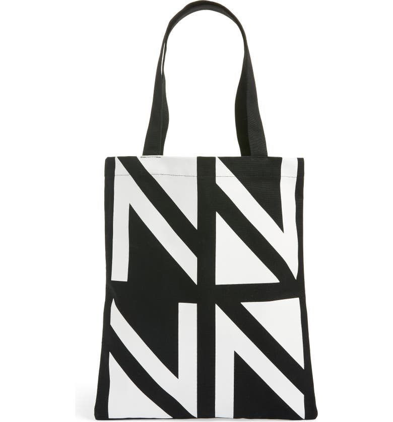 NORDSTROM Canvas Tote, Main, color, BLACK ALLOVER MULTI
