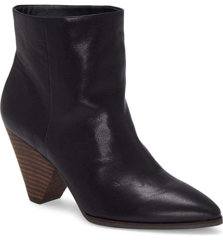 LUCKY BRAND Munise Bootie, Main, color, BLACK LEATHER