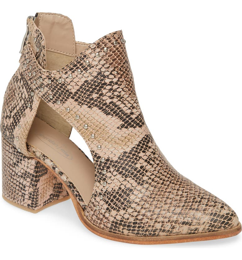 SHERIDAN MIA Fionah Cutout Bootie, Main, color, SNAKE PRINT LEATHER