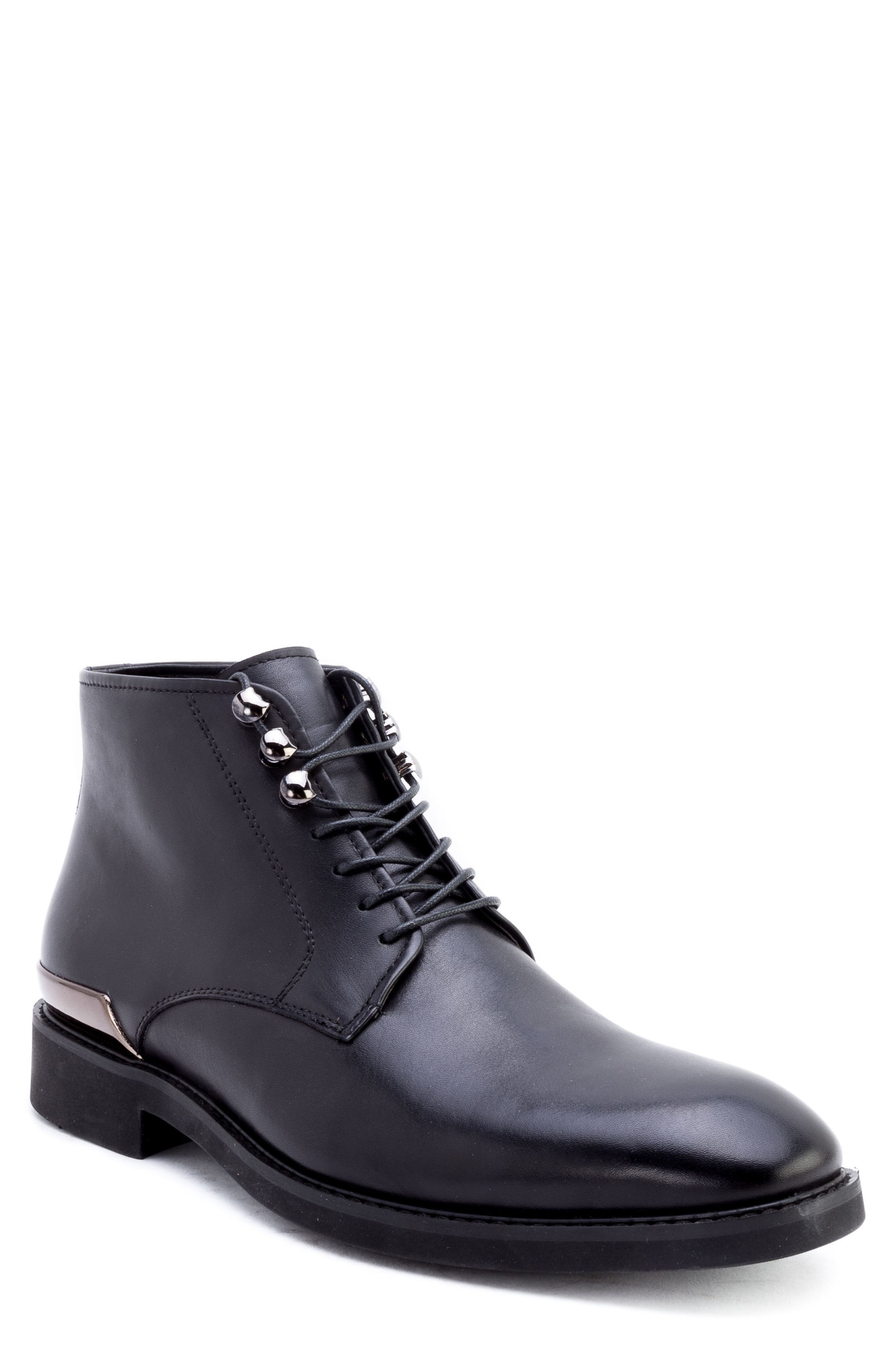 Image of Zanzara Soland Leather Lace-Up Boot