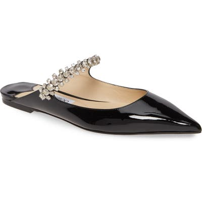 Jimmy Choo Bing Crystal Pointy Toe Mule, Black