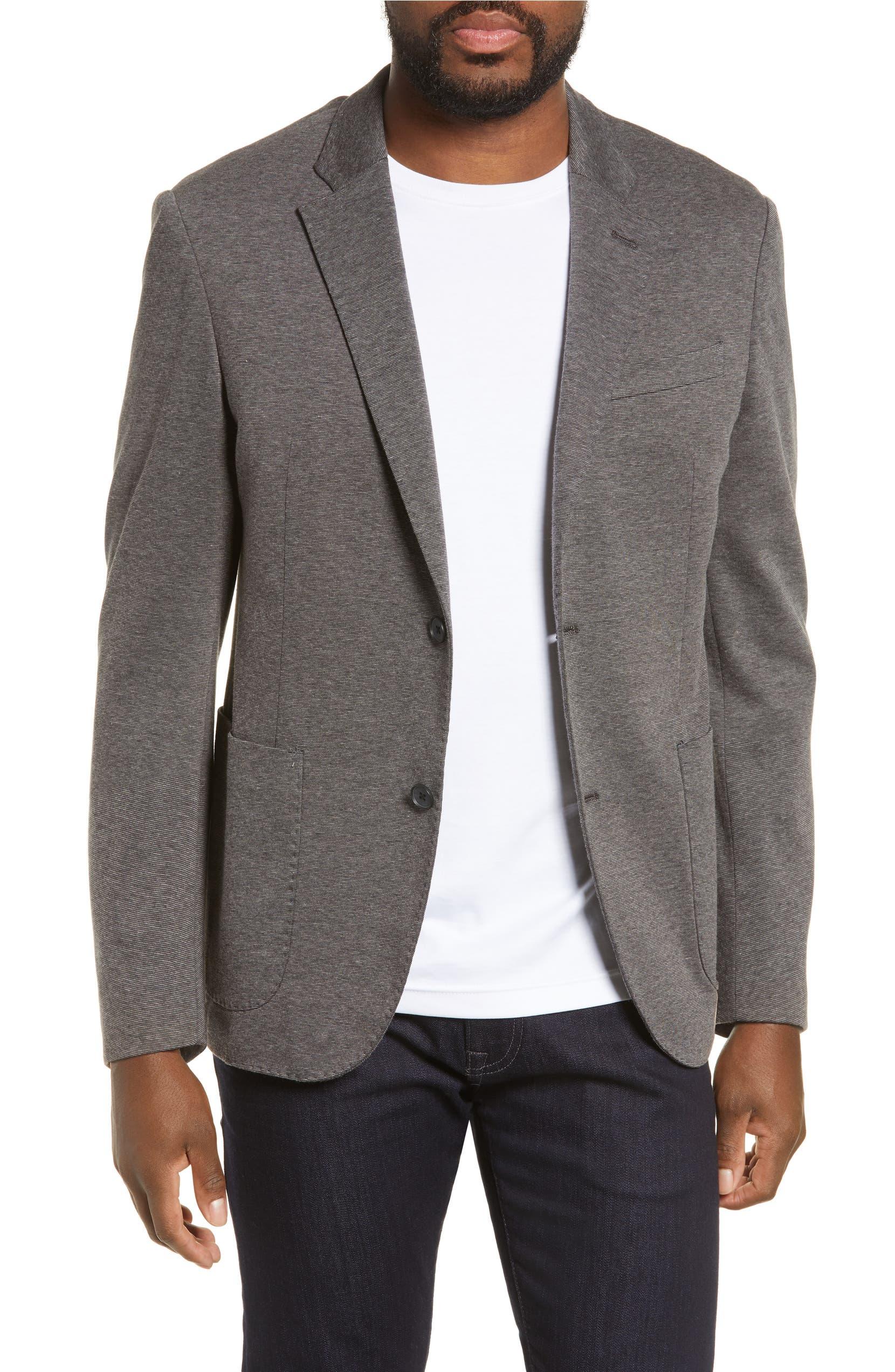 635942f8ddd Nordstrom Men s Shop Trim Fit Double Face Ponte Sport Coat