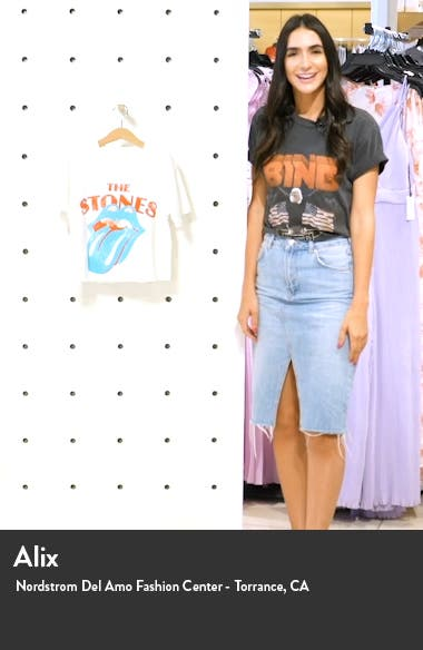 Rolling Stones Crop Graphic Tee, sales video thumbnail