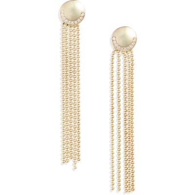 Knotty Deco Ball & Chain Fringe Drop Earrings