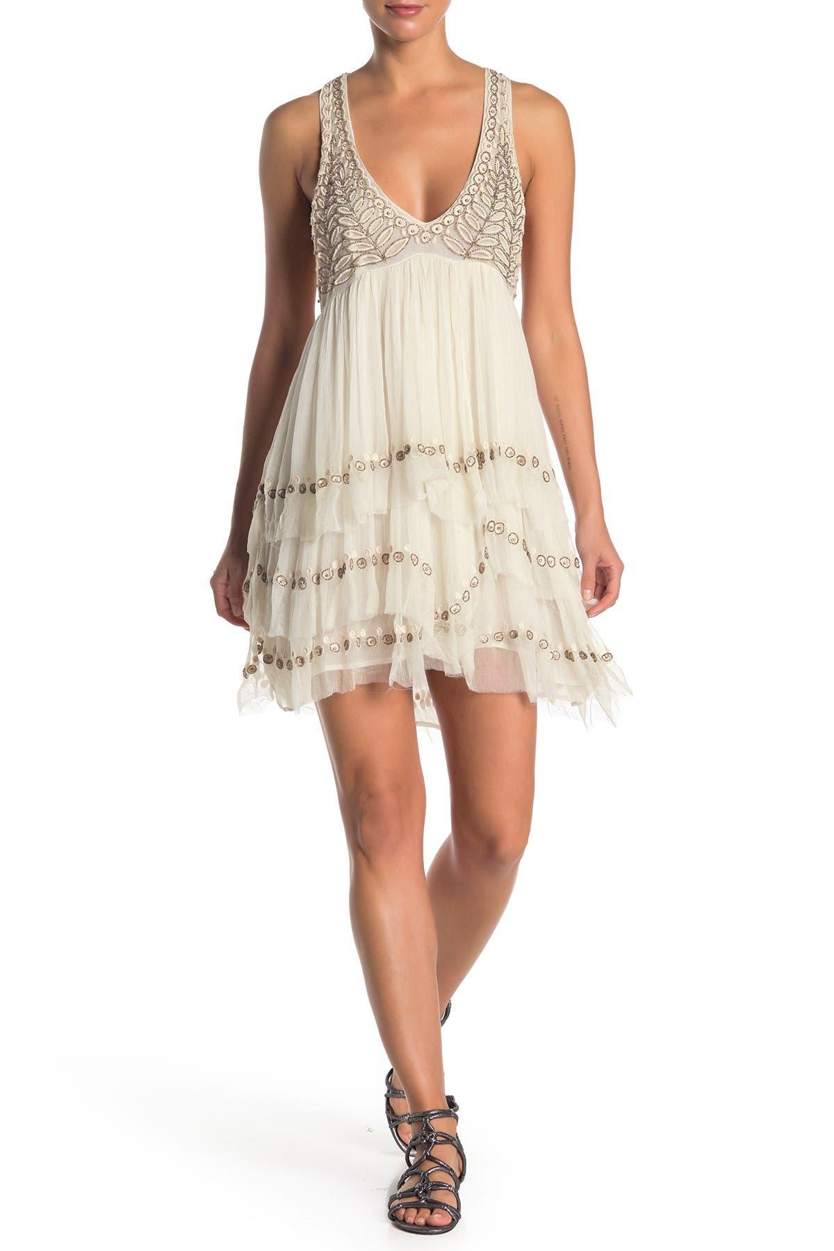 Image of Free People Twilight Beaded Mini Dress