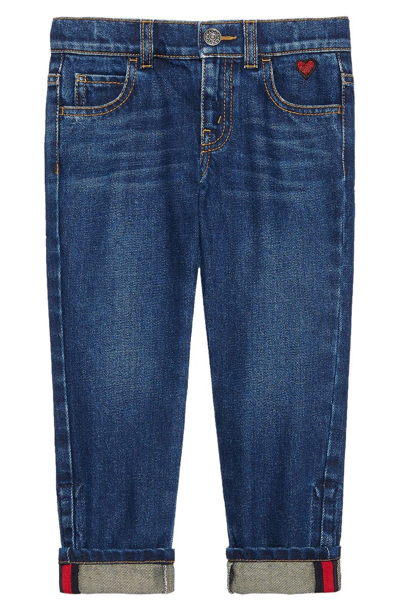 GUCCI Cuffed Jeans, Main, color, ORBIT MULTI