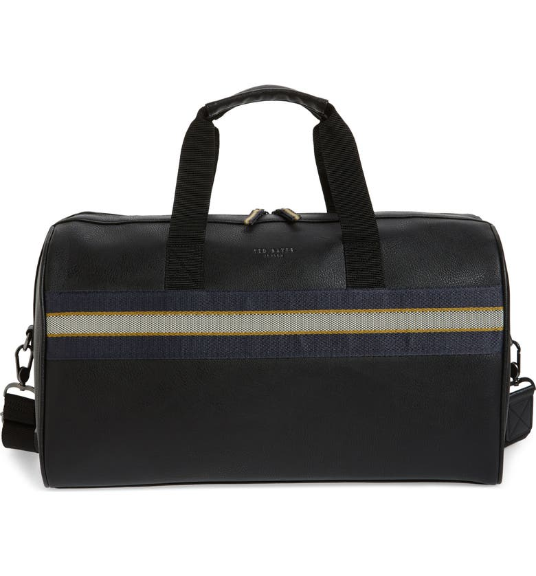 TED BAKER LONDON Ceviche Faux Leather Duffle Bag, Main, color, 001