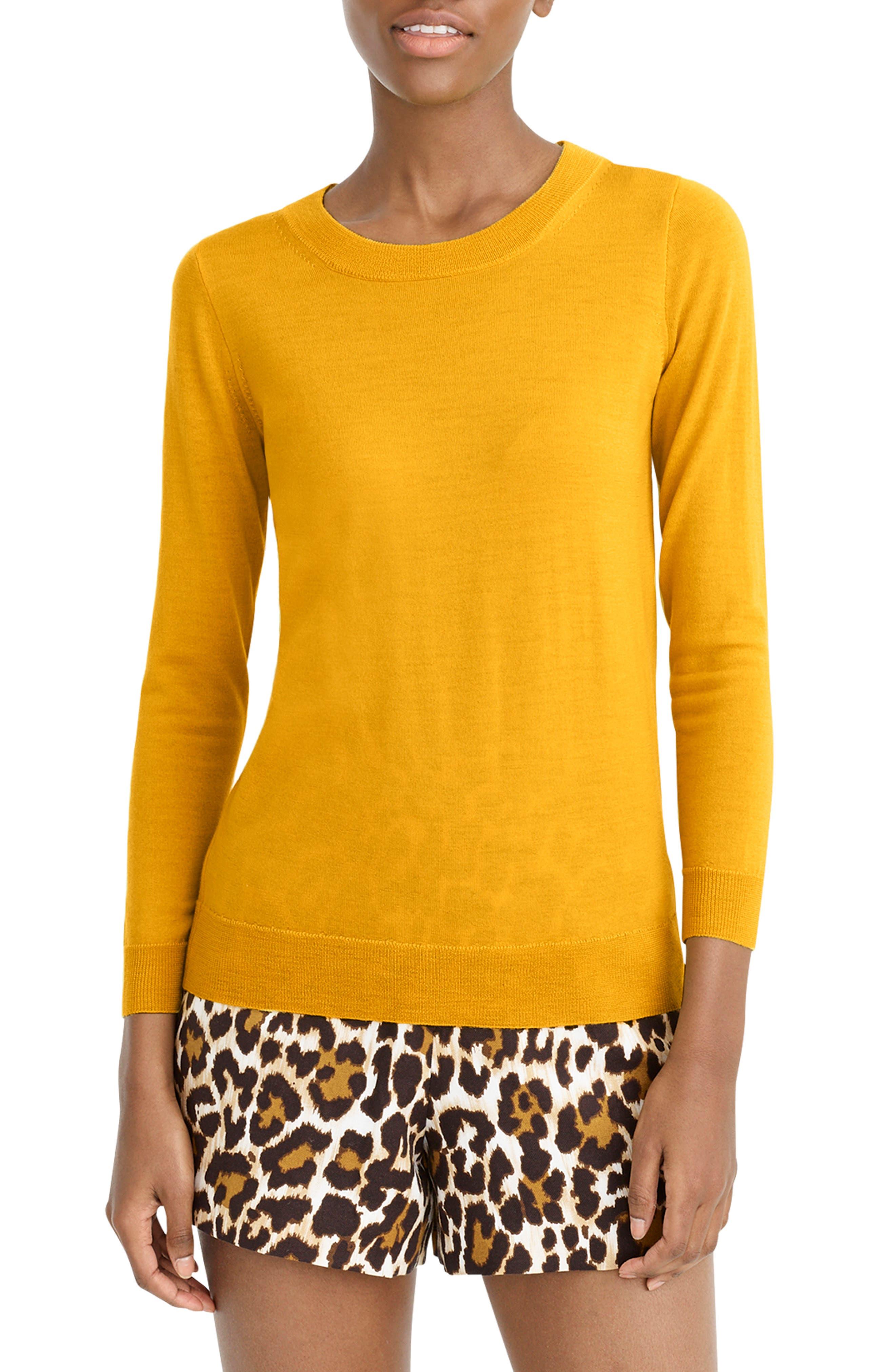 J.crew Tippi Merino Wool Sweater, Metallic