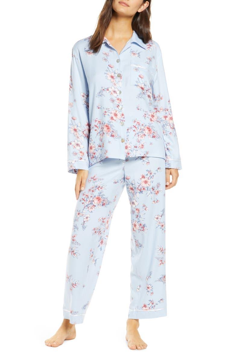 PAPINELLE Jardin Pajamas, Main, color, BLUE