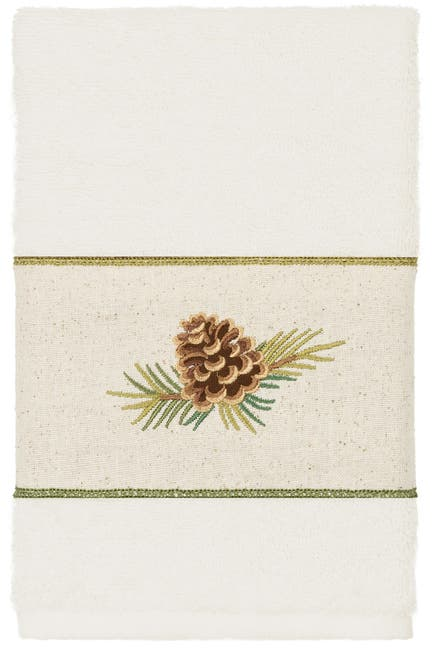 Image of LINUM HOME Pierre 3-Piece Embellished Towel - Cream